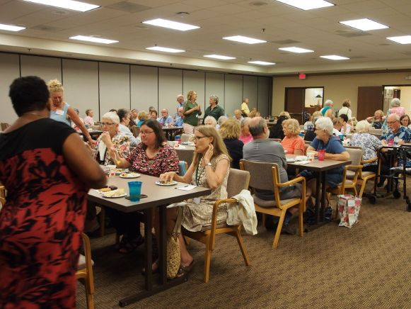 Master Gardeners and Friends Enjoying Good Food and Conversation