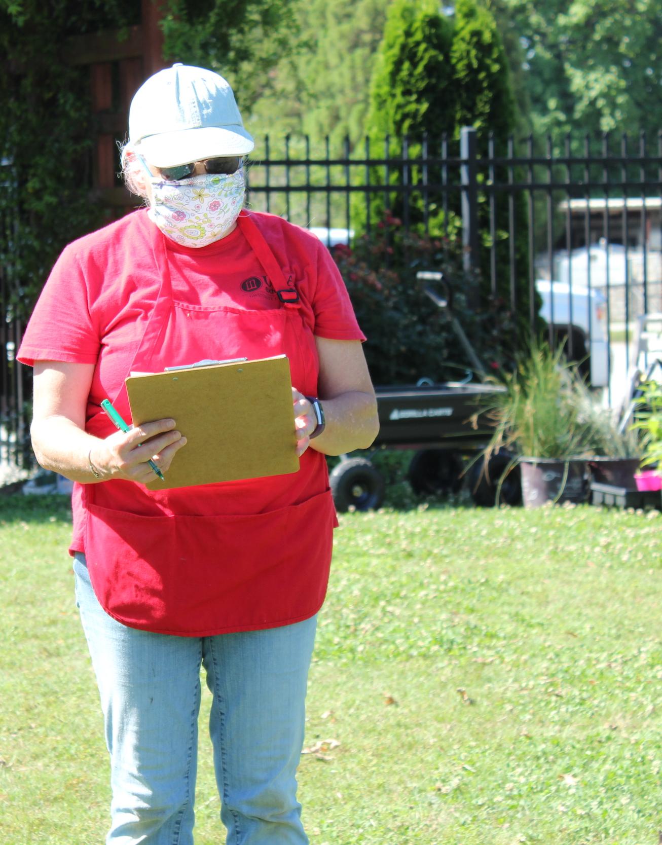Plant sale co-chair Susan